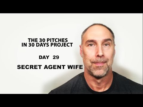 30 Pitches in 30 Days - Day 29 - Secret Agent Wife (2020)